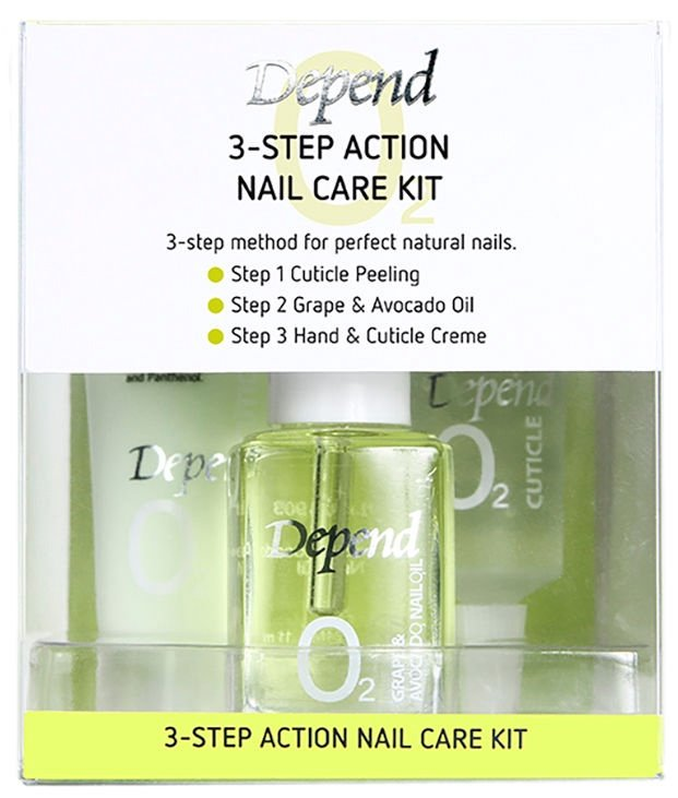Depend O2 3Step Action Nail Care Kit