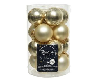 Ziemassvētku eglītes rotaļlieta Kaemingk 010704 Champagne, 35 mm, 16 gab.