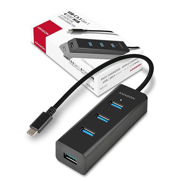 USB-разветвитель (USB-hub) AXAGON HUE-S2C 4-Port Charging hub