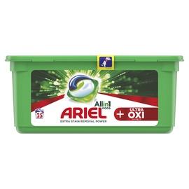 Skalbimo kapsulės Ariel Ultra Oxi Effect, 25 vnt.