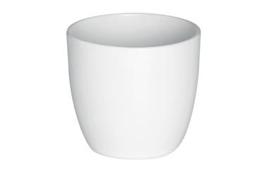 Горшок кер DOMOLETTI, EMI, д 18, цвет белый матовый