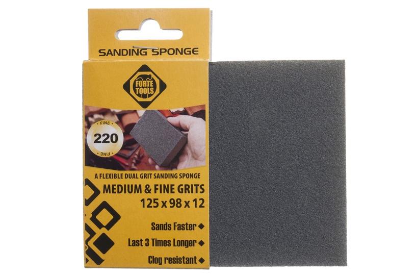 Šlifavimo kempinė Forte Tools, NR220, 125x98x12 mm, 1 vnt.
