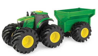 Tomy John Deere Monster Treads Tractor With Wagon 46260