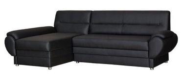 Bodzio Livonia Left Corner Folding Sofa Eco Leather Black