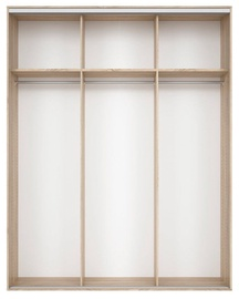 Black Red White Wardrobe Frame Nadir 190 Sonoma Oak