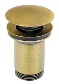 Ferro S285BR G5/4 Rotondo Drain Valve For Basins Chrome Old bronze
