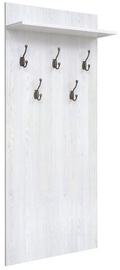 Black Red White Coat Rack Porto White
