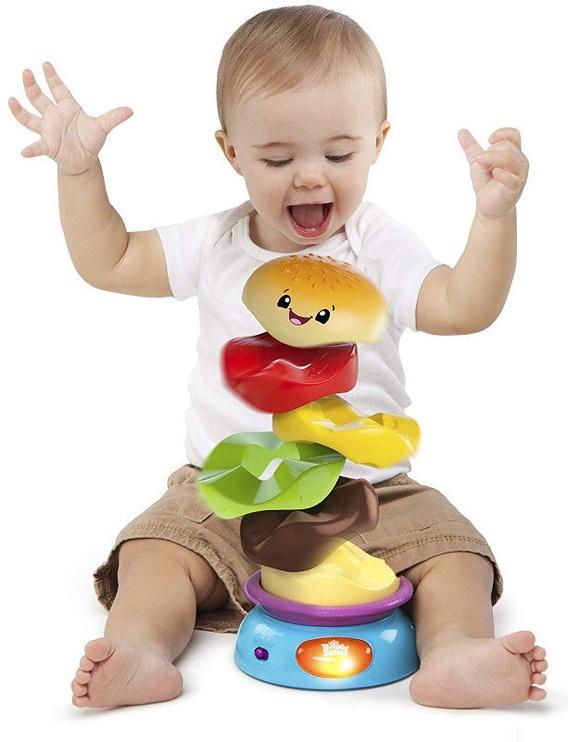Bright Starts Stack & Spin Burger 52126
