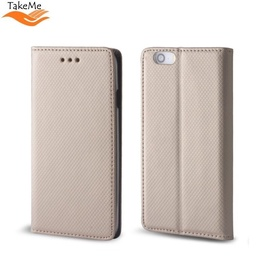 TakeMe Smart Magnetic Fix Book Case Xiaomi Redmi Note 7 / Note 7 Pro Gold