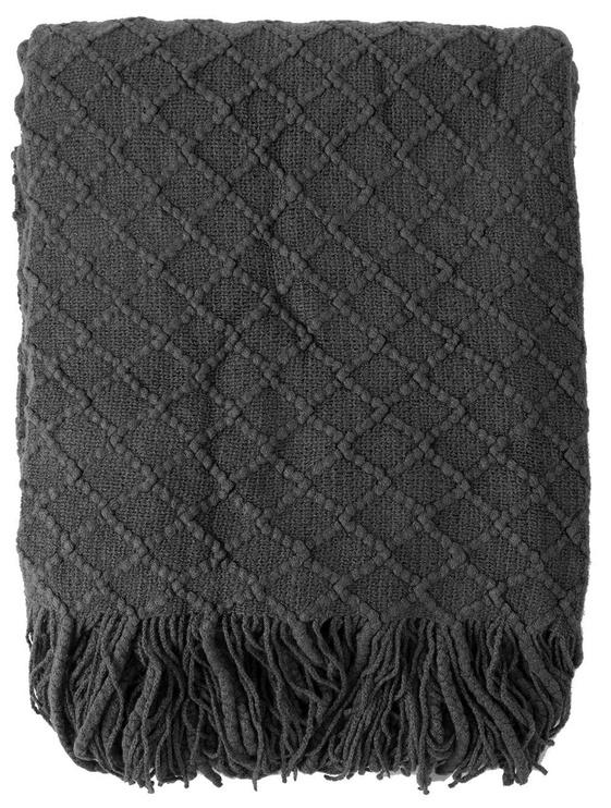 Home4you Felice Blanket 130x170cm Dark Gray