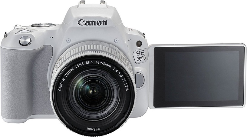 Canon EOS 200D + EF-S 18-55mm 4-5.6 IS STM White