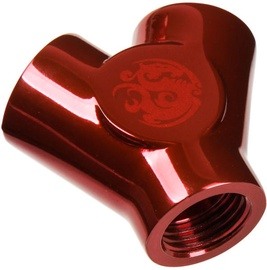 """Bitspower Deep Blood Red Y-Block With Triple IG1/4"""""""