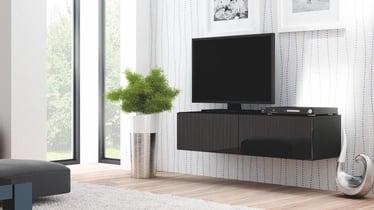 Pakabinama spintelė Livo RTV 160W juoda, 160 x 40 x 30 cm