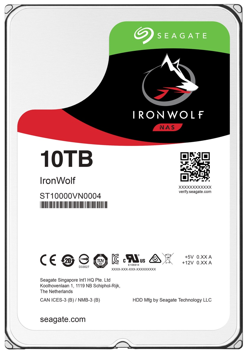 61da02751f1 Seagate IronWolf 10TB 7200RPM SATA3 256MB ST10000VN0004