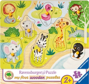 Ravensburger My First Wooden Puzzle In The Zoo 8pcs 036875