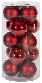 Home4you Christmas Balls 8cm 15pcs Red