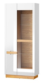 Szynaka Meble Visio 12 Display Cabinet White/Camargue Oak