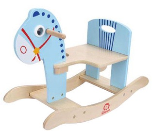 Brimarex Wooden Rocking Horse Blue 2394