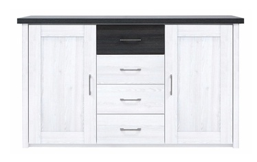 Black Red White Luca Drawer Sibiu Larch Light/Larico Pine