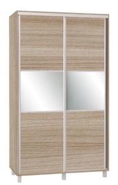 Bodzio SZP120 Sliding Wardrobe w/ Mirror 120x210cm Latte