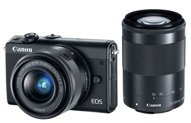 Canon EOS M100 + EF-M 15-45 + EF-M 55-200 Black