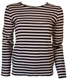 Bars Long Sleeve Shirt Black/White 156 M