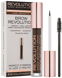 Makeup Revolution London Brow Revolution Brow Gel 3.8g Dark Brunette