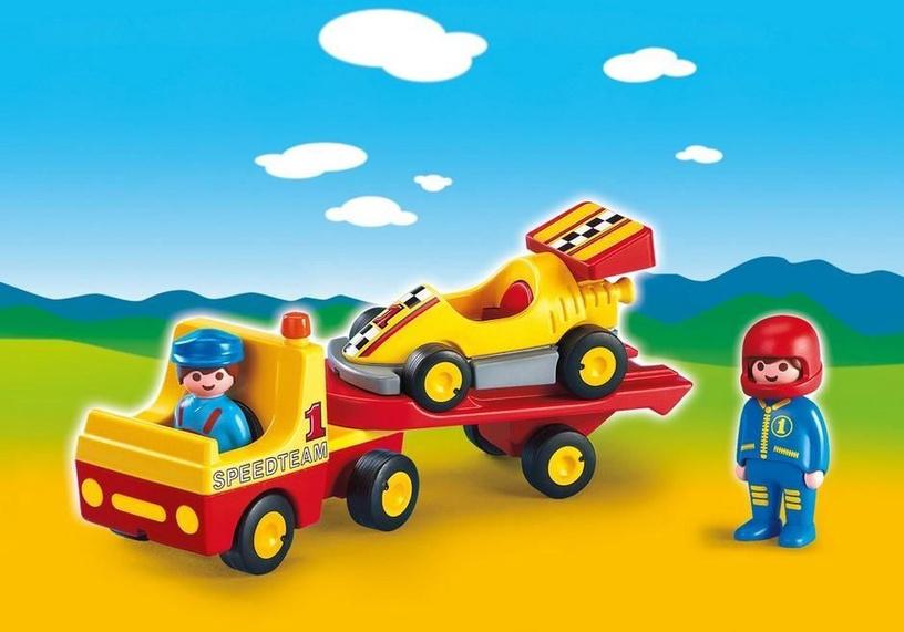 Playmobil 1-2-3 Racing Car With Transporter 6761