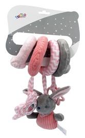 Прорезыватель Tulilo Rabbit, розовый/серый