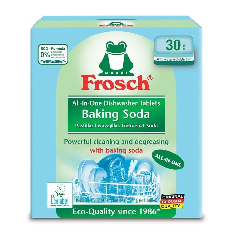 Trauku mazgājamās mašīnas kapsulas Frosch, 30 gab.