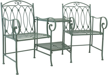 Home4you Mint Garden Bench With Table Antique Green