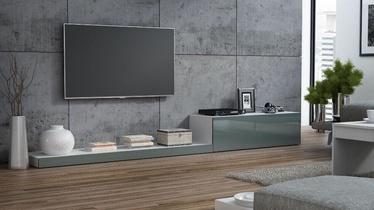TV galds Cama Meble Life 300, balta/pelēka, 3000x420x350 mm