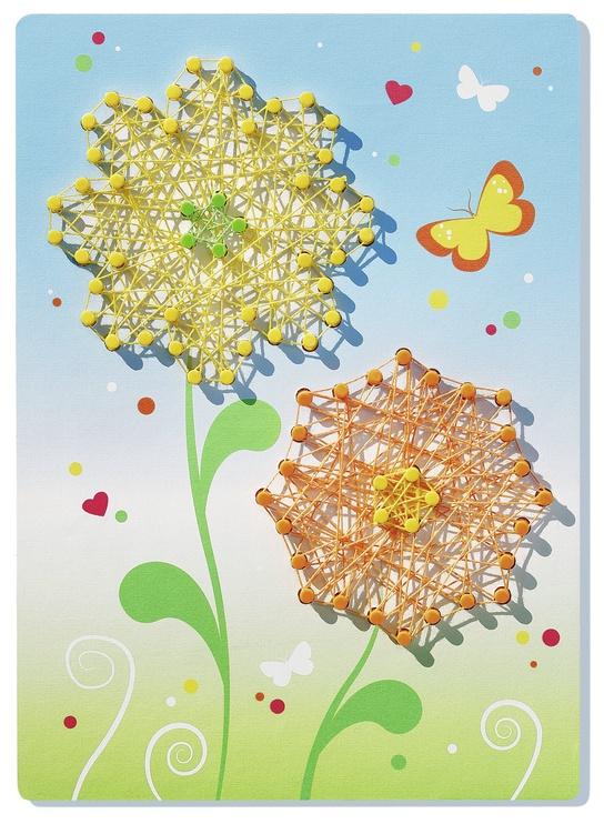 Kūrybinis mezgimo rinkinys Ravensburger StringIt Butterfly & Flowers 180349