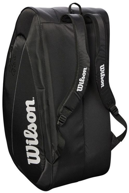 Wilson Fed Team 2018 Bag For 12 Rackets Black/White