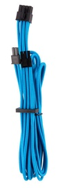 Corsair Premium Individually Sleeved PCIe Cables with Single Connector Type 4 (Gen 4) Blue