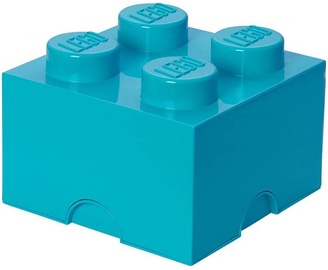 LEGO Storage Brick 4 Knobs Medium Azurblue