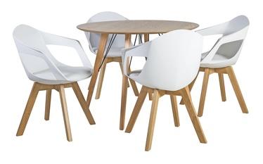 Home4you Helena/Stuart Dining Table Set White/Oak