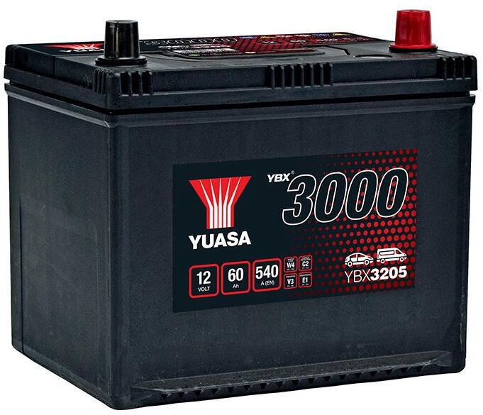 Аккумулятор Yuasa YBX3205, 12 В, 60 Ач, 540 а