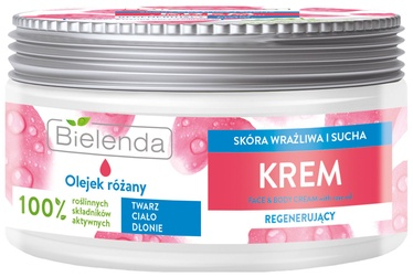 Bielenda Face Body & Hands Cream With Rose Oil 200ml