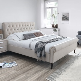 Home4you Lucia Bed w/ Mattress Harmony Duo 160x200cm Beige