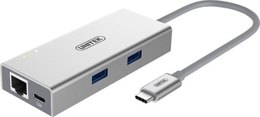 Unitek USB 3.1 Type-C Aluminium Multiport Hub w/ Power Delivery