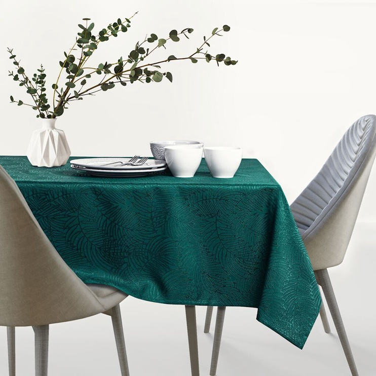 AmeliaHome Gaia Tablecloth HMD Bottle Green 140x340cm