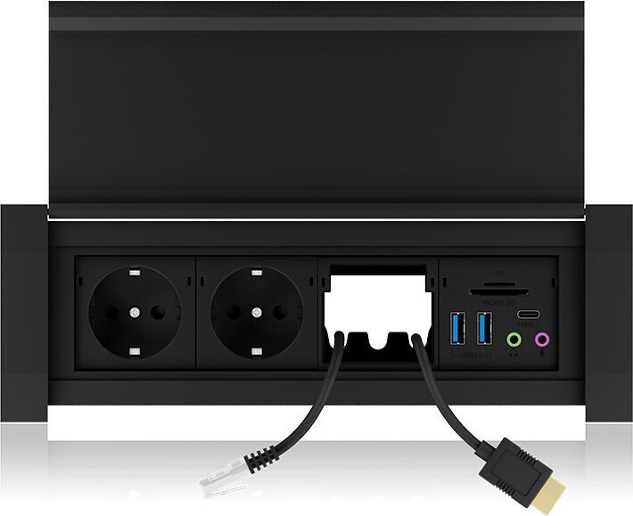 ICY Box IB-TS401-4 Desk Socket USB HUB