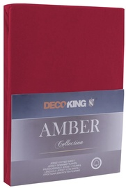 Palags DecoKing Amber, ķiršu, 180x200 cm, ar gumiju