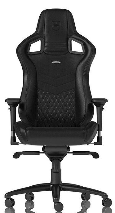 Žaidimų kėdė Noblechairs EPIC Real Leather Black