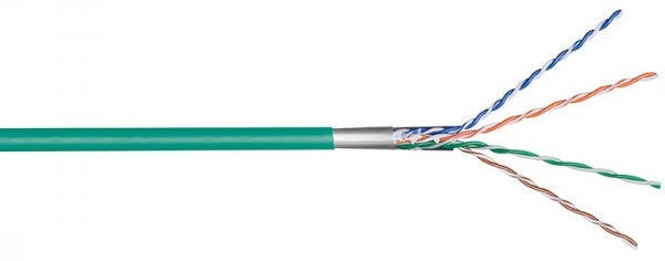 Goobay Network Cable CAT 5E F/UTP Stranded 100m Green