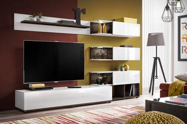 ASM Silk Living Room Wall Unit Set White/Perla Elm