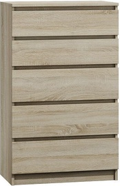 Top E Shop Malwa M5 Chest of 5 Drawers Sonoma