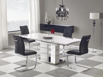 Pusdienu galds Halmar Lord White, 1600 - 2000x900x750 mm
