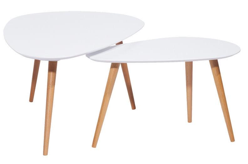 Signal Meble Nolan Bow Coffee Table Set White